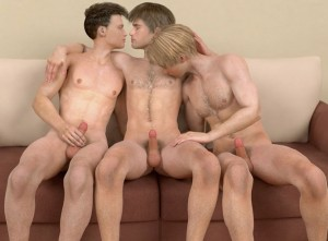 Crazy 3D gay groupsex action