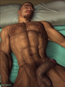 naked 3d gay stud sleeps