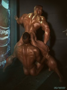 3d gay ass licking