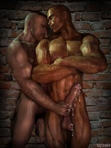 3d gay handjob scene