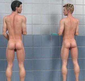 Gay guys fuck in 3D