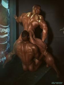 3d gay ass licking